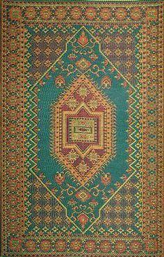 Door Mats and Floor Mats 20573: Aqua 4-Feet By 6-Feet Mad Mats Oriental Turkish Indoor Outdoor Floor Mat, 4 By -> BUY IT NOW ONLY: $65.51 on eBay!