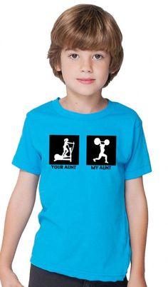 My Aunt Children's Tshirt Blue