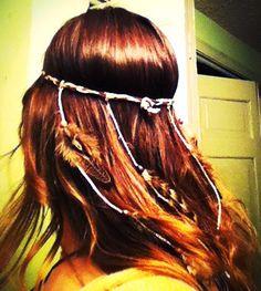 CUSTOM Native Headband with Feathers. By Moondial Gypsy. $29.00, via Etsy. Photo by Chelsea Donoho Photography