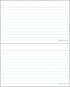 index cards template