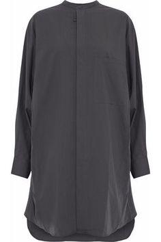 ACNE STUDIOS WOMAN COTTON-POPLIN SHIRT DRESS CHARCOAL. #acnestudios #cloth #