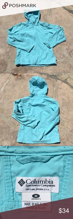 Columbia Womens Baby Blue Windbreaker Excellent condition, NWOT Columbia Jackets & Coats