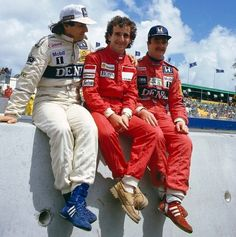 Piquet, Prost y Mansell Alain Prost, Albert Park Melbourne, Youth Dirt Bikes, Nigel Mansell, Australian Grand Prix, Car And Driver, Race Cars, Racing, Legends