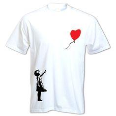 Banksy Street art Graffiti Stencil Balloon Girl t shirt http://www.bangtidyclothing.co.uk/banksy-balloon-girl-unisex-t-shirt-1861-p.asp