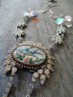 FLIGHT of FANCY  vintage assemblage necklace by TheFrenchCircus, $196.00
