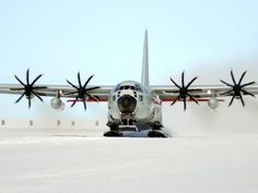 Photographic Print: A Ski-equipped LC-130 Hercules Poster by Stocktrek Images : 24x18in