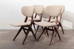 Set of 4 HOVMAN OLSEN STYLE DINING CHAIRS