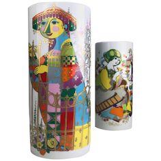 Set Of Bjorn Wiinblad Vases - Björn Wiinblad Commedia Dell`arte Rosenthal German Scandinavian Modern Gold, Porcelain Porcelain Vase, Fine Porcelain, Vases For Sale, Italian Renaissance, Ginger Jars, Vases Decor, Decorative Objects, Antiques, China