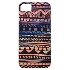 Sunset Aztec Pattern iPhone 5 Cover