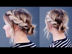 Hairstyle Of The Day: SUPER SIMPLE Twisted Rope Updo | Milabu - YouTube