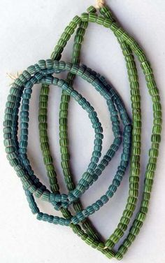 Venetian chevrons ...African trade beads