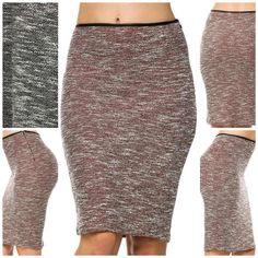 #holyadornmentboutique #houstonboutique #fall2015lookbook #missy #skirt #pencilskirt Black or Burgundy Pencil Skirt with Fleather trim on waist www.holyadornment.com