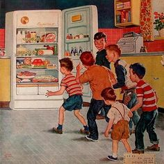 Refrigerator Raid, 1955 - Illustrated by Amos Sewell.