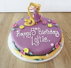 rapunzel birthday party cakes