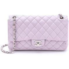 What Goes Around Comes Around Chanel Charms Bag - Purple found on Polyvore