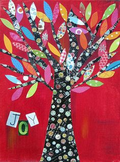 Joy Tree 8 x 10  print by 3wishescreations on Etsy
