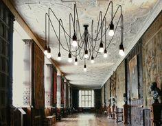 MAMAN _lampadario formato da 14 cavi da 4 e 3m design by Selab | Seletti