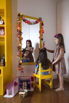 Cantinho cabelereiro improvisado / NaToca revista online www.natocadesign.com.br