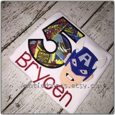 Captain America avengers superhero monogram Name by AuntieDonnas