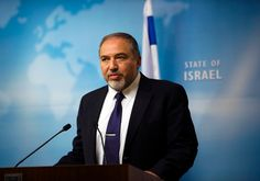 Foreign Minister Avigdor Liberman gives a statement to the media at his Jerusalem office December 2 Photo By: REUTERS