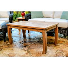 Tortuga Outdoor Teak Rectangle Coffee Table - Overstock™ Shopping - Big Discounts on Coffee & Side Tables