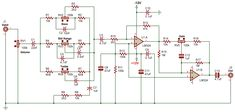 Bass, Electronic Circuit Design, Diy Amplifier, Speaker Design, Circuit Diagram, Electronics Projects, Audiophile, Mixer, Texas