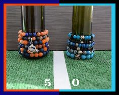 It's Super Bowl Time, show your team spirit with a bracelet by TFK Designs.