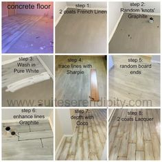 Step by Step process to updating these concrete floors with Chalk Paint™ by… Painted Concrete Floors, Concrete Wood, Stained Concrete, Concrete Bedroom Floor, Cement Floors, Plywood Floors, Concrete Countertops, Basement Flooring, Diy Flooring