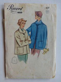 RETRO SYMÖNSTER RECORD 627 Vintage 40-50-tal Mö.. (360719429) ᐈ Köp på Tradera Swedish Sewing, Vintage Sewing Patterns, Nostalgia, Retro, Retro Illustration