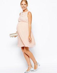 New Look Maternity Sleeveless Lace Bodice Dress