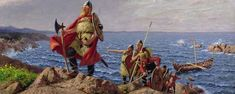 Leif Erikson: The First Person to Reach North America Was a Catholic Viking It wasnt Christopher Columbus, but actually Leif Erikson that reached North America first. He was also the first Catholic to do so, too. Ancient Egypt, Ancient History, Women In History, Art History, Funny History Facts, Leif Erikson, Erik The Red, America Funny, Old Norse