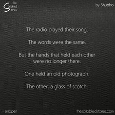 One held a photograph, other a glass of scotch. #Pretty #Short #Stories