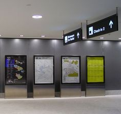 Very clean Airport Zurich wayfinding system without any media distraction by Grimshaw Architects, built and installed by BURRI