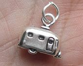 Sterling Silver Travel Trailer Charm(ONE trailer charm)You Choose Which One