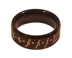 Drake Equation Tungsten Carbide Men's Ring (probability of alien life)…