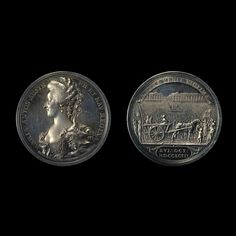 Silver medal of the Execution of Marie Antoinette, by Conrad Heinrich Küchler London, England, AD 1794