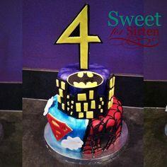 Super hero birthday cake by Sweet For Sirten