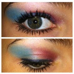 Fourth of July makeup! ❤