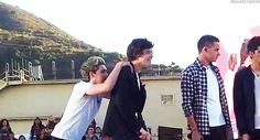 Which Two Members Of One Direction Are Most Likely In A Gay Relationship? Awww Niall got a piggy back ride I want one Harry