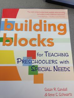 Building Blocks for Teaching Lending Library, Special Needs, Special Education, Check It Out, Early Childhood, Preschool, Classroom, Teaching, Building