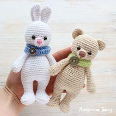 Kuschel mich Bär mit Hase - Kostenlose Muster von Amigurumi heute