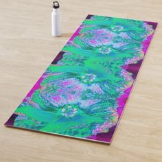Yoga Mom, Hibiscus, Psychedelic, Cleaning Wipes, Latex, Print Design, Hot Pink, Retro, Create
