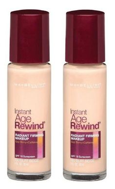 Maybelline New York Instant Age Rewind Radiant Firming Makeup Buff Beige 130 1 Fluid Ounce Pack of 2 ** See this great product. Makeup Kit Essentials, Age Rewind, No Foundation Makeup, Beauty Hacks, Beauty Tips, Maybelline, Makeup Tips, Face Makeup