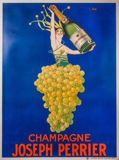 Tessier-Sarrou & Associés, Paris Affiche Champagne Joseph Perrier, circa 1930 - J. STALL 120 x 160 cm - Symev - 26/03/2015