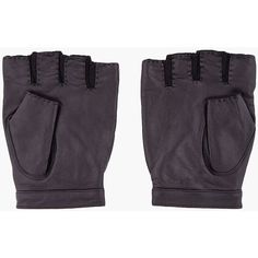 MARC BY MARC JACOBS Black Leather Biker Gloves ($100) ❤ liked on Polyvore