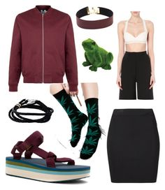 """"""""""" by sharkkid37 on Polyvore featuring Teva, HUF, Topman, Dion Lee, T By Alexander Wang, Exhart and Paul Smith"""