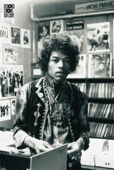 Musicians Hanging Out in Records Stores - Jimi