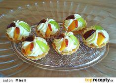 Mini košíčky s ovocem Pudding, Desserts, Food, Tailgate Desserts, Deserts, Custard Pudding, Essen, Puddings, Postres