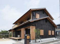 Exterior Design, Interior And Exterior, Asian Architecture, Modern Contemporary Homes, Japan Style, Japanese House, Houses, House Design, Spaces