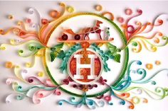 What's quilling? Quilling is awesome. Quilling is this. This is my new obsession. Obviously, I cannot start quilling now. Arte Quilling, Quilling Letters, Quilling Designs, Paper Quilling, Quilling Ideas, Quiling Paper, Origami, Yulia Brodskaya, Papier Diy